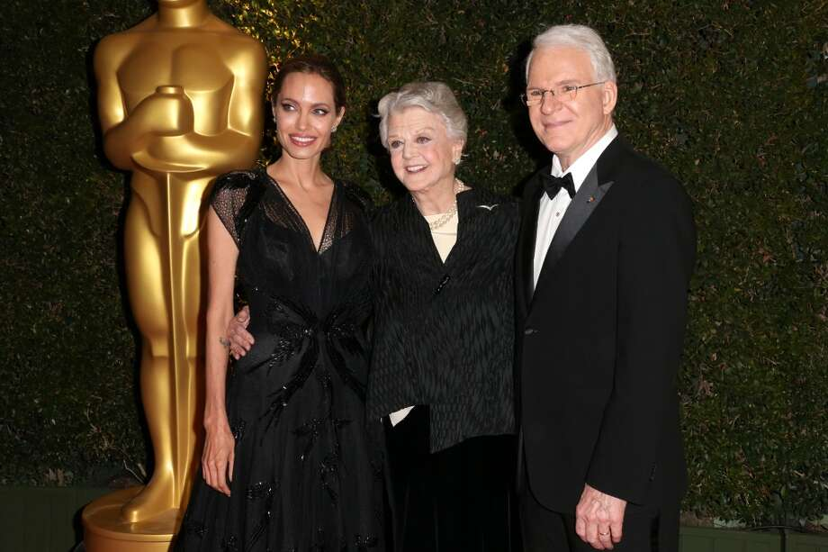 (L-R) Honorees Angelina Jole, Angela Lansbury and Steve Martin arrive at the Academy of Motion Picture Arts and Sciences' Governors Awards at The Ray Dolby Ballroom at Hollywood & Highland Center on November 16, 2013 in Hollywood, California. Photo: Frederick M. Brown, Getty Images