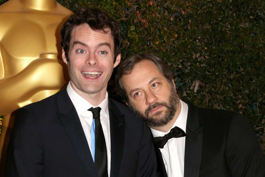 Actor Bill Hader and Director Judd Apatow arrive at the Academy of Motion Picture Arts and Sciences' Governors Awards at The Ray Dolby Ballroom at Hollywood & Highland Center on November 16, 2013 in Hollywood, California. Photo: Frederick M. Brown, Getty Images