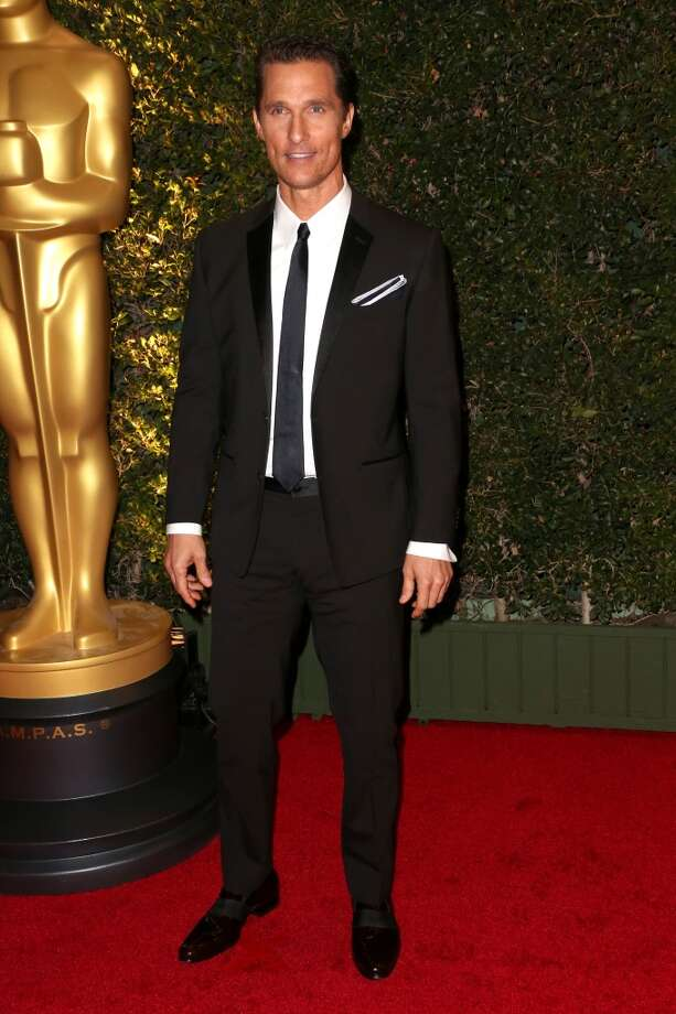 Actor Matthew McConaughey arrives at the Academy of Motion Picture Arts and Sciences' Governors Awards at The Ray Dolby Ballroom at Hollywood & Highland Center on November 16, 2013 in Hollywood, California. Photo: Frederick M. Brown, Getty Images
