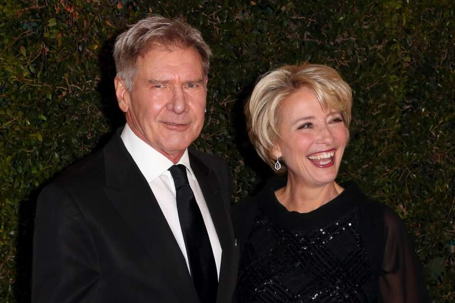 Actors Harrison Ford and Emma Thompson arrive at the Academy of Motion Picture Arts and Sciences' Governors Awards at The Ray Dolby Ballroom at Hollywood & Highland Center on November 16, 2013 in Hollywood, California. Photo: Frederick M. Brown, Getty Images