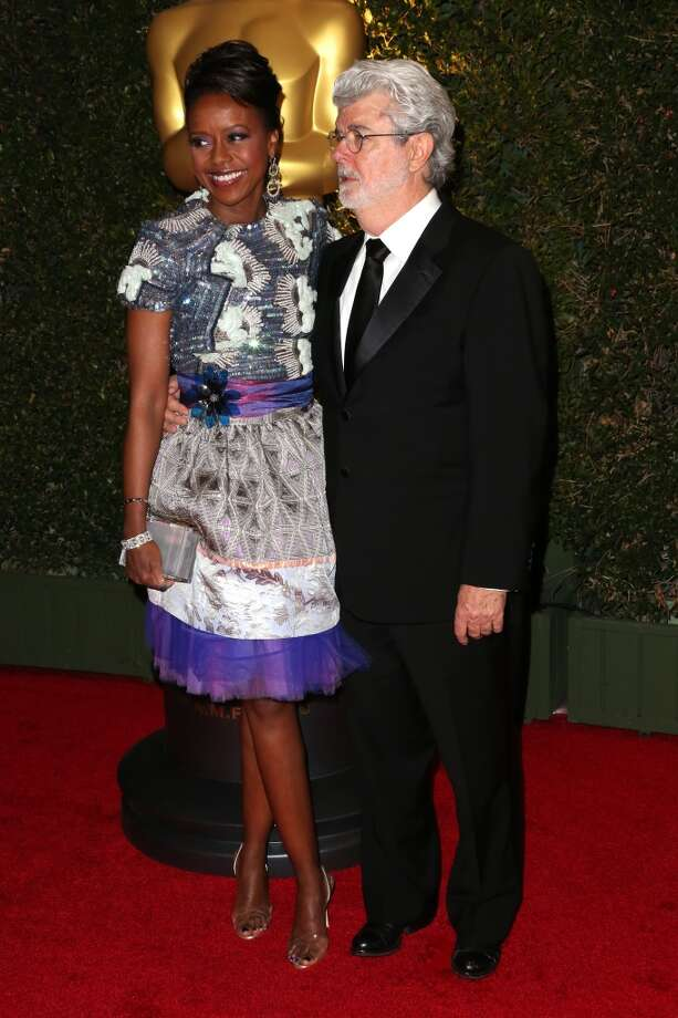 Director George Lucas and Mellody Hobson arrives at the Academy of Motion Picture Arts and Sciences' Governors Awards at The Ray Dolby Ballroom at Hollywood & Highland Center on November 16, 2013 in Hollywood, California. Photo: Frederick M. Brown, Getty Images
