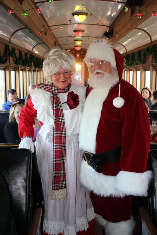 Santa, aka Bob Bell, and Mrs. Claus meet with every child aboard the Santa Special at Essex Steam Train through Dec. 23. Photo: Contributed Photo / Connecticut Post Contributed