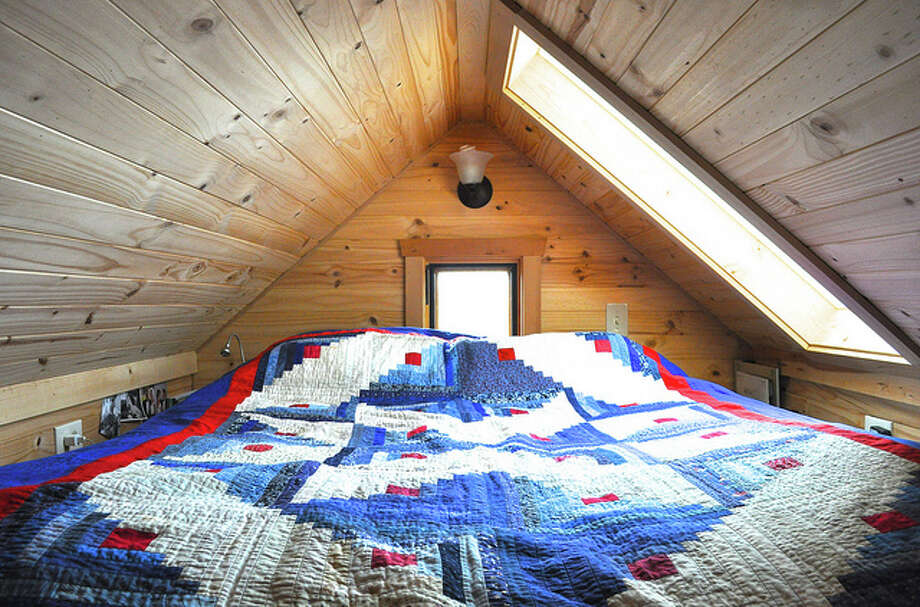 Pictured is the loft inside of a tiny house. Photo: Flickr Creative Commons/Rowdy Kitten
