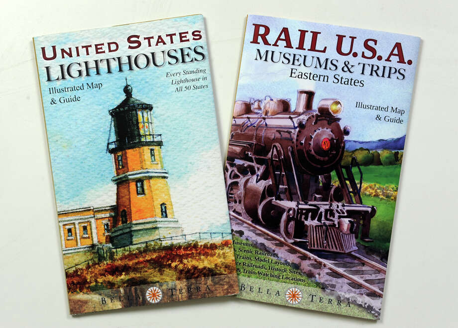 Illustrated map/guides on American lighthouses and Eastern railroad museums are now available from Bella Terra Publishing in convenient foldout brochures ($9.95 each). Photo: Contributed Photo, Ned Gerard/Staff Photographer / Connecticut Post Contributed