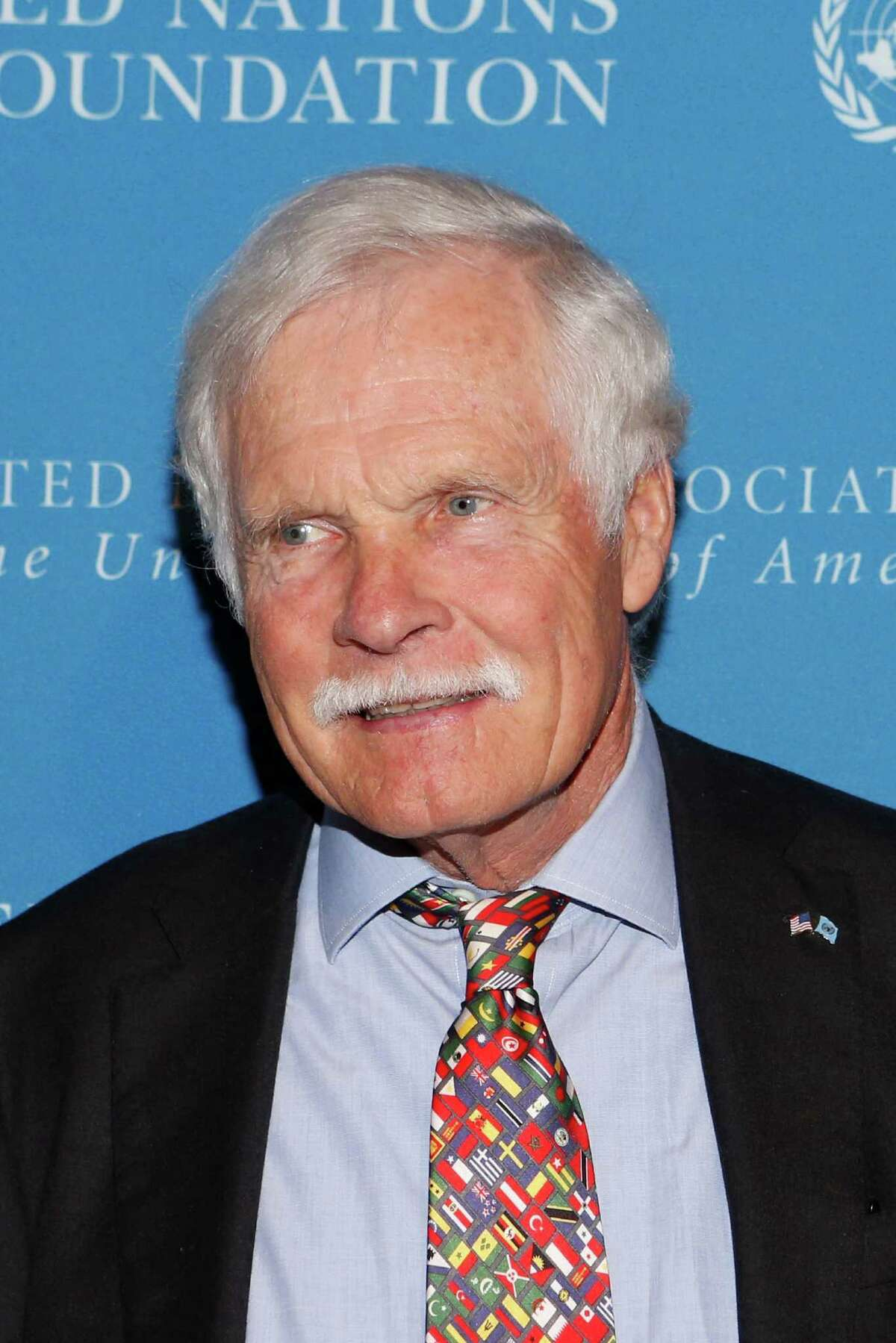 CNN founder Ted Turner poses for a photo at the United Nations Foundation Global Leadership Dinner, Wednesday, Nov. 6, 2013, in New York. (AP Photo/Jason DeCrow) ORG XMIT: NYJD106
