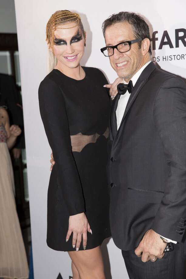 Ke$ha and designer Kenneth Cole attend the inaugural amfAR India event at the Taj Mahal Palace Mumbai on November 17, 2013 in Mumbai, India. Photo: Kevin Tachman, Getty Images