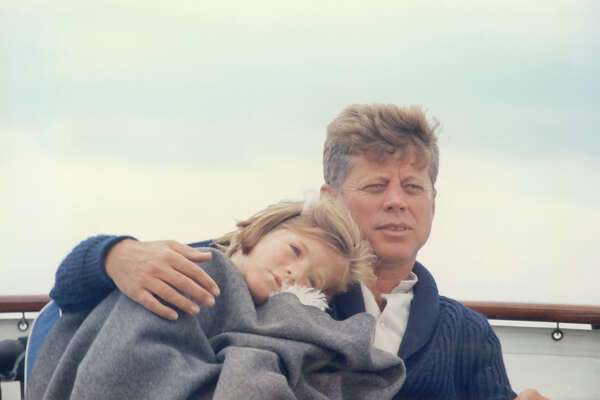 President John F. Kennedy with family, circa 1960s.