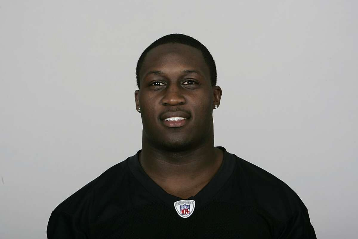 OAKLAND, CA - 2009: Thomas Howard of the Oakland Raiders poses for his 2009 NFL headshot at photo day in Oakland, California. (Photo by NFL Photos)