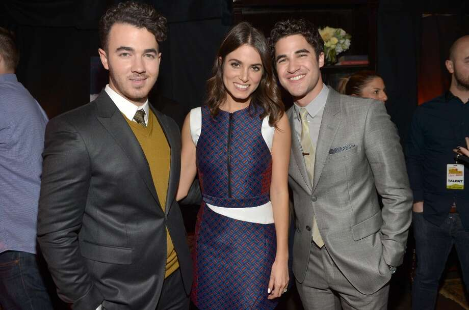 (L-R) Musician Kevin Jonas, actors Nikki Reed and Darren Criss attend the 5th Annual TeenNick HALO Awards at Hollywood Palladium on November 17, 2013 in Hollywood, California. Photo: Charley Gallay, Getty Images For Nickelodeon