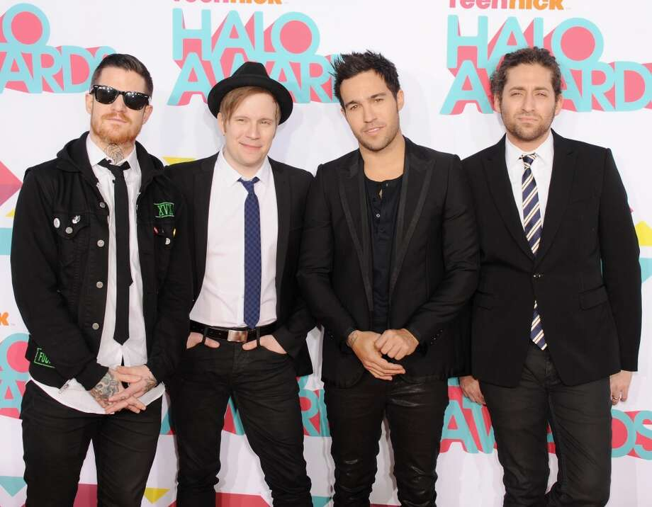 Musicians Andy Hurley, Patrick Stump, Peter Wentz and Joe Trohman of Fall Out Boy arrive at the 2013 TeenNick HALO Awards at Hollywood Palladium on November 17, 2013 in Hollywood, California. Photo: Jon Kopaloff, FilmMagic