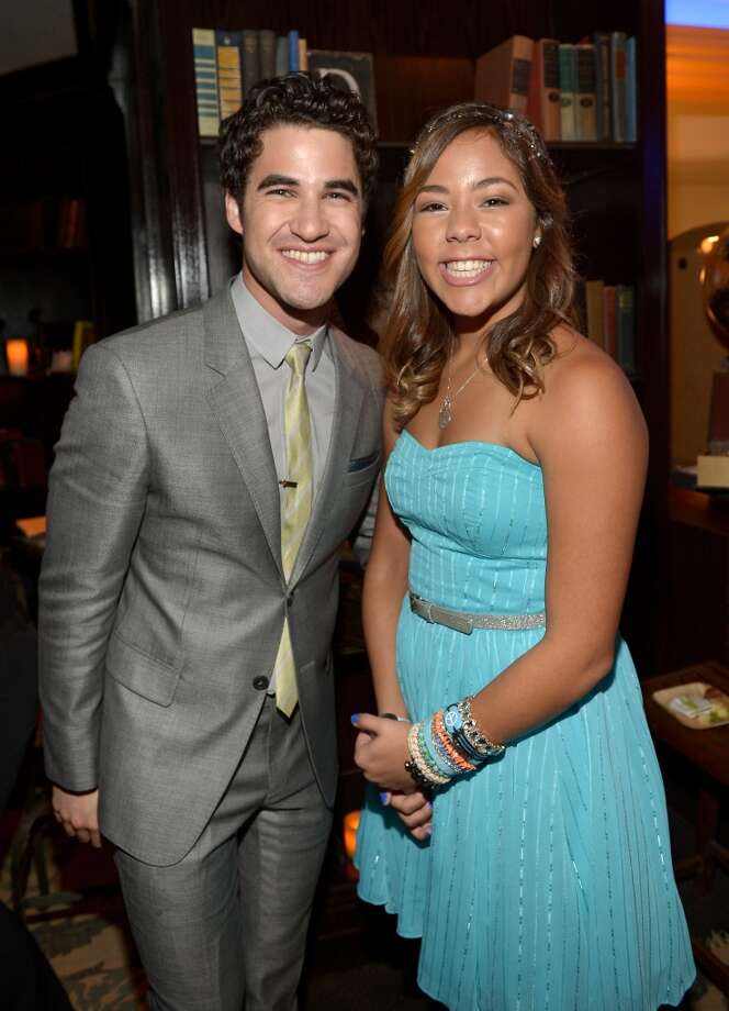 Actor Darren Criss (L) and honoree Miranda Fuentes attend the 5th Annual TeenNick HALO Awards at Hollywood Palladium on November 17, 2013 in Hollywood, California. Photo: Charley Gallay, Getty Images For Nickelodeon