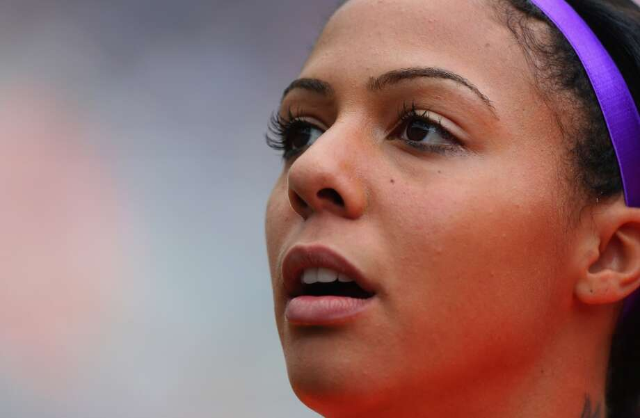 NEWCASTLE UPON TYNE, ENGLAND - AUGUST 03:  Sydney Leroux of the United States  looks on during the Women's Football Quarter Final match between United States and New Zealand, on Day 7 of the London 2012 Olympic Games at St James' Park on August 3, 2012 in Newcastle upon Tyne, England.  (Photo by Stanley Chou/Getty Images) Photo: Getty Images
