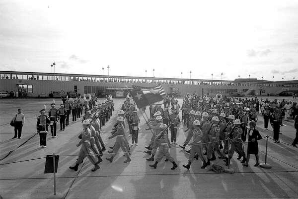 At Houston International Airport, Nov. 21, 1963.