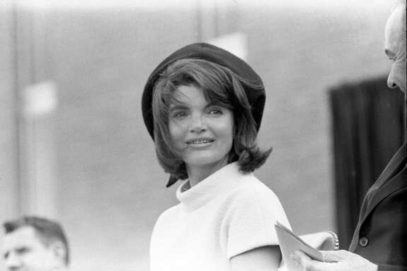 First lady Jacqueline Kennedy at a dedication ceremony for the Aerospace Medical Health Center at Brooks Air Force Base in San Antonio, Texas, Nov. 21, 1963.