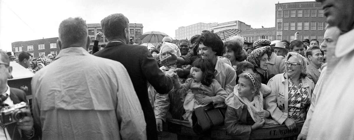 President John F. Kennedy outside the Hotel Texas, Fort Worth, Nov. 22, 1963.