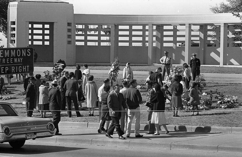 Dallas, Texas, outside the Texas School Book Depository in Dealey Plaza, after the assassination of President John F. Kennedy. Photo: Houston Chronicle / Houston Chronicle