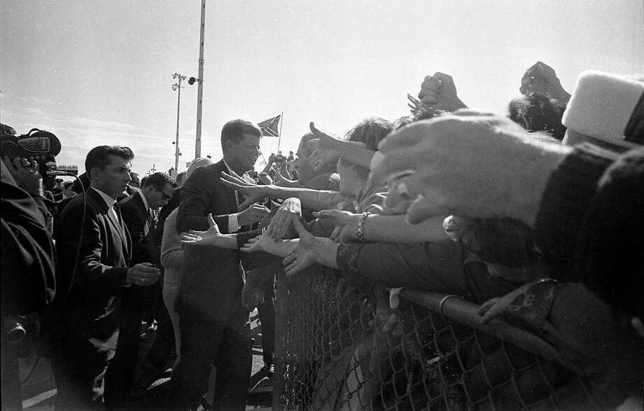 President John F. Kennedy's arrival at Dallas' Love Field, Nov. 22, 1963. Photo: Houston Chronicle / Houston Chronicle