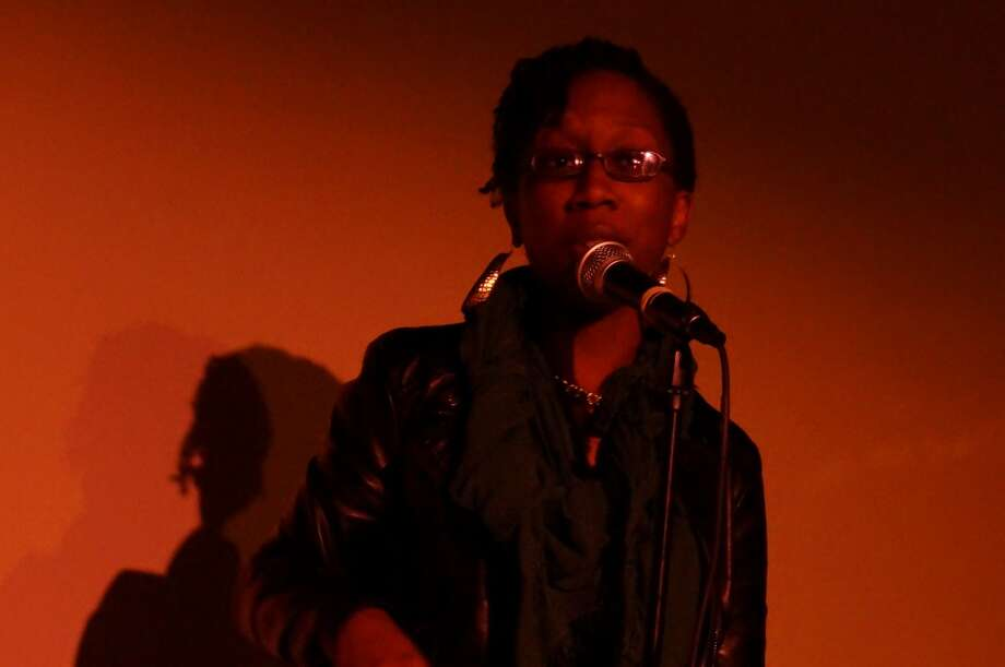 Spoken word artist Jamila Jones started off the night. Photo: Sketch The Journalist, 2013