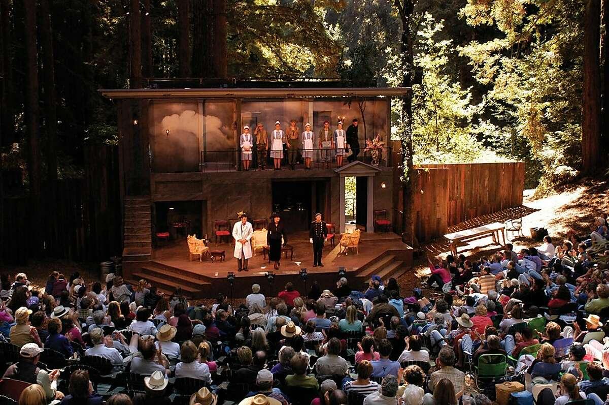 The Festival Glen stage in the redwoods at Shakespeare Santa Cruz