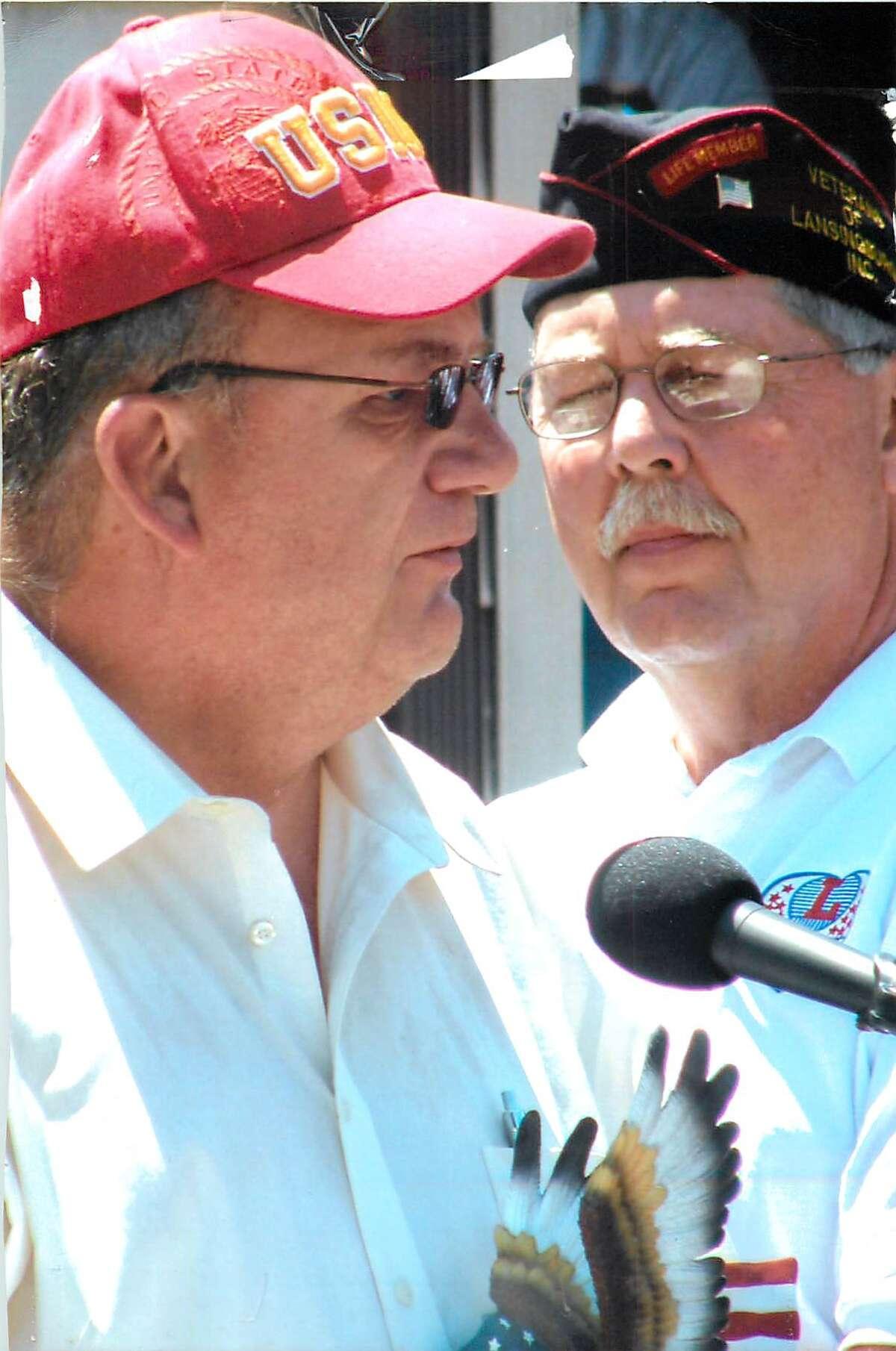 Robert Reiter, left, Rensselaer County veterans' services director (Photo provided)