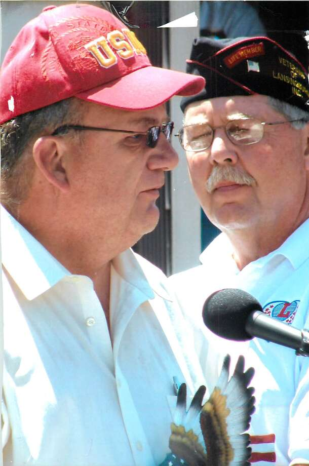 Robert Reiter, left, Rensselaer County veterans' services director (Photo provided)