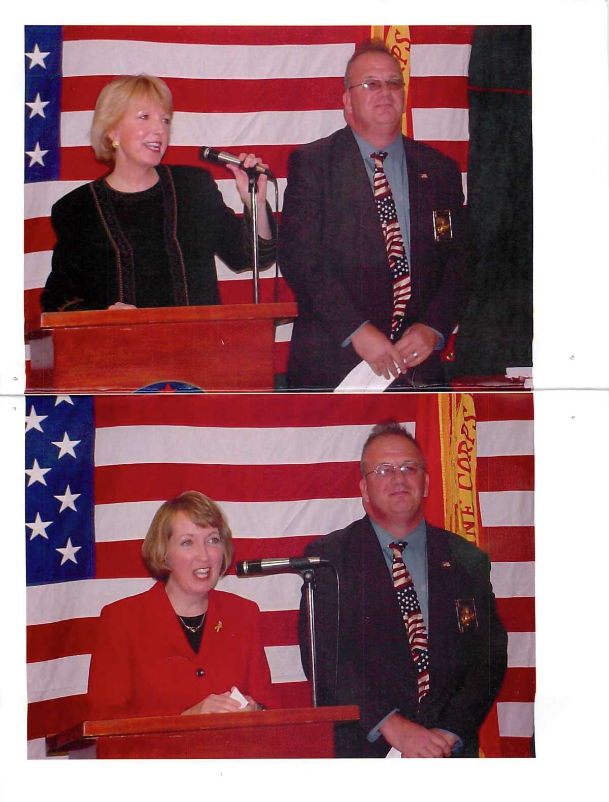 Robert Reiter with Lt. Governor Mary Donohue, top, and Rensselaer County Executive Kathy Jimino (Photo provided)