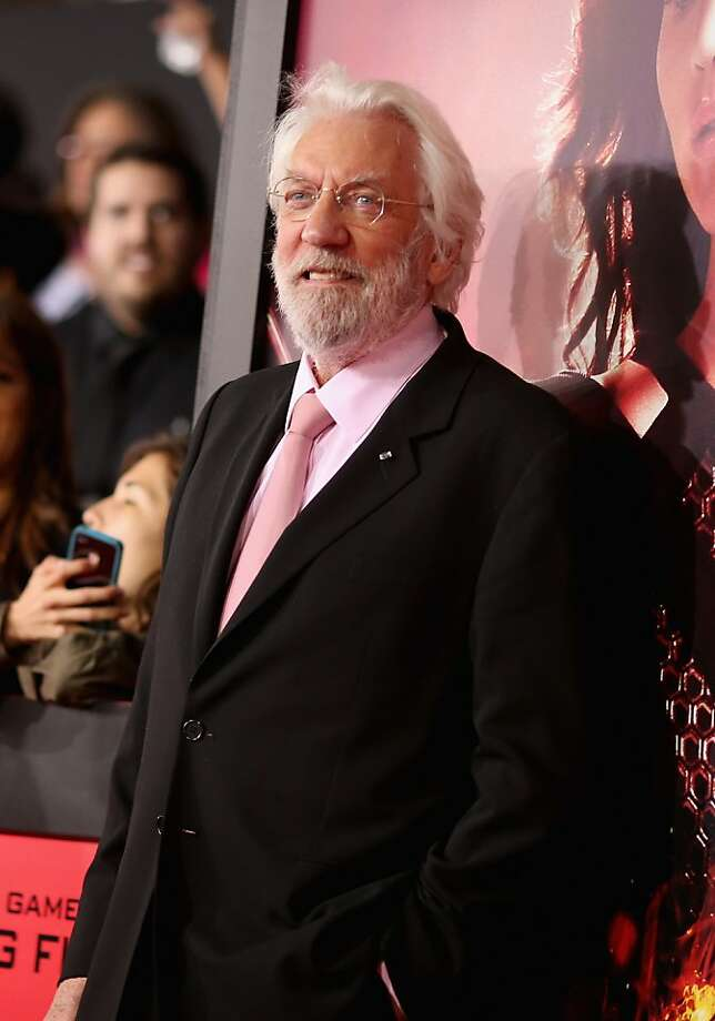 "Actor Donald Sutherland attends premiere of Lionsgate's ""The Hunger Games: Catching Fire"" - Red Carpet at Nokia Theatre L.A. Live on November 18, 2013 in Los Angeles, California. Photo: Christopher Polk, Getty Images"