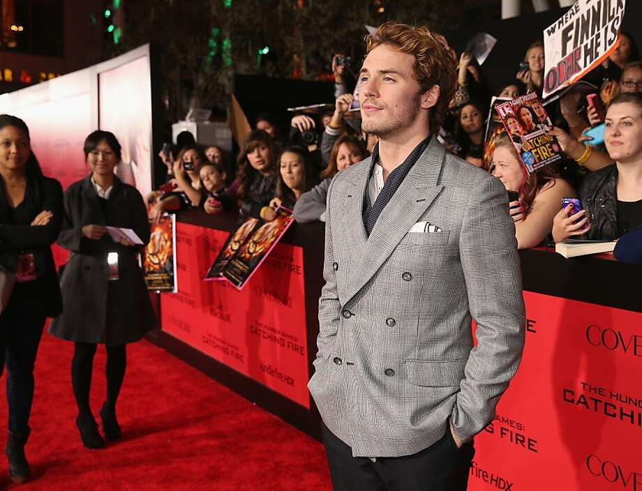 "Actor Sam Claflin attends premiere of Lionsgate's ""The Hunger Games: Catching Fire"" - Red Carpet at Nokia Theatre L.A. Live on November 18, 2013 in Los Angeles, California. Photo: Christopher Polk, Getty Images"