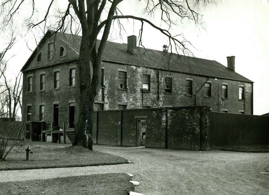 A view of the front of the Albany County Almshouse, Jan. 18, 1932. (Times Union archive)