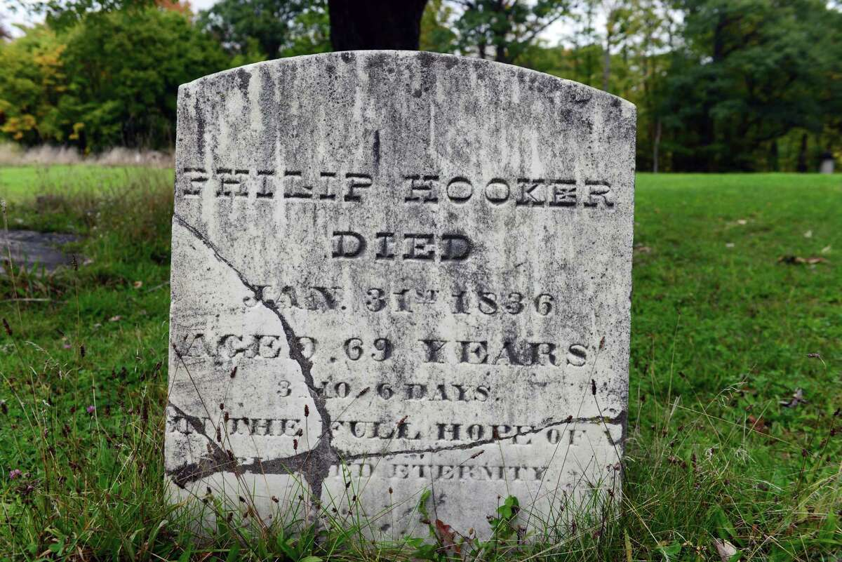 Philip Hooker?s grave stone at Albany Rural Cemetery. (Will Waldron/Times Union)