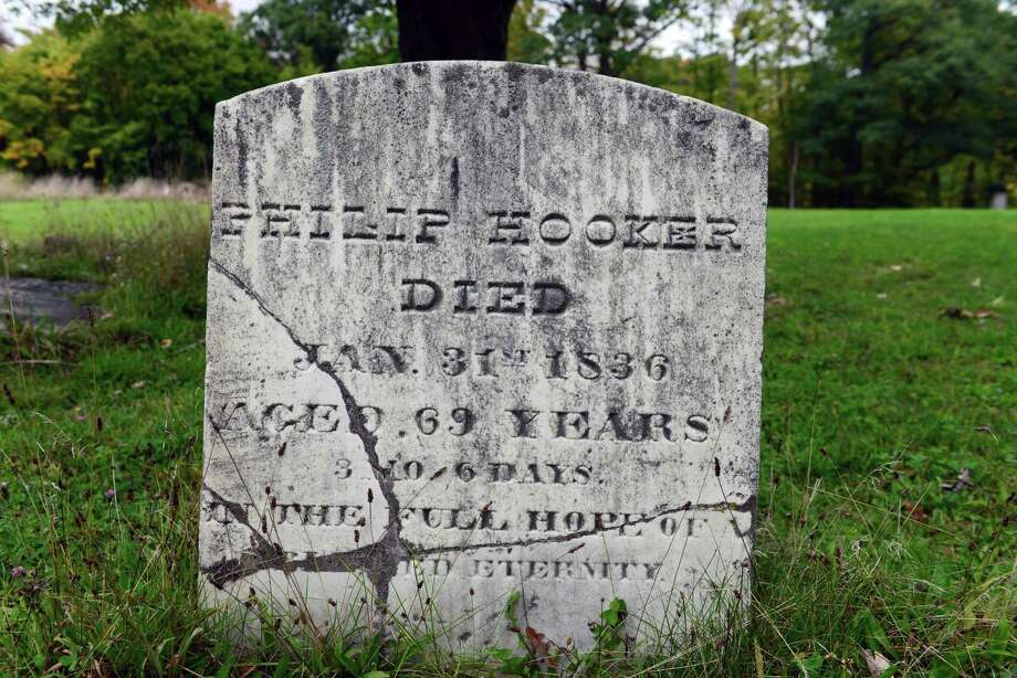 Philip Hooker?s grave stone at Albany Rural Cemetery. (Will Waldron/Times Union) Photo: WW / 00023993A