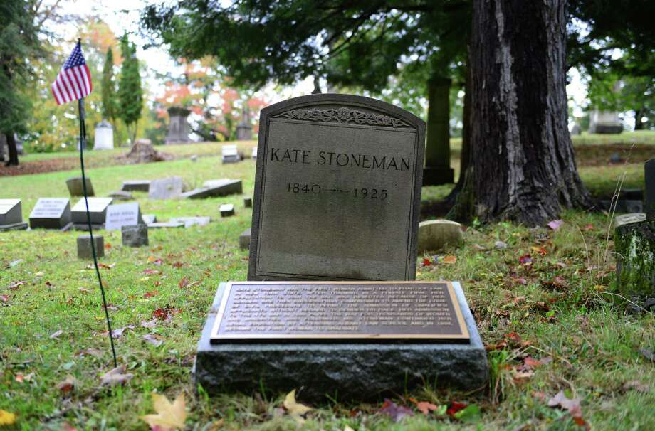 The area around the grave site of Kate Stoneman on the south side of section 56. Stoneman was the first female Albany Law School graduate and the first woman admitted to the NYS Bar. (Will Waldron/Times Union) Photo: WW / 00023993A
