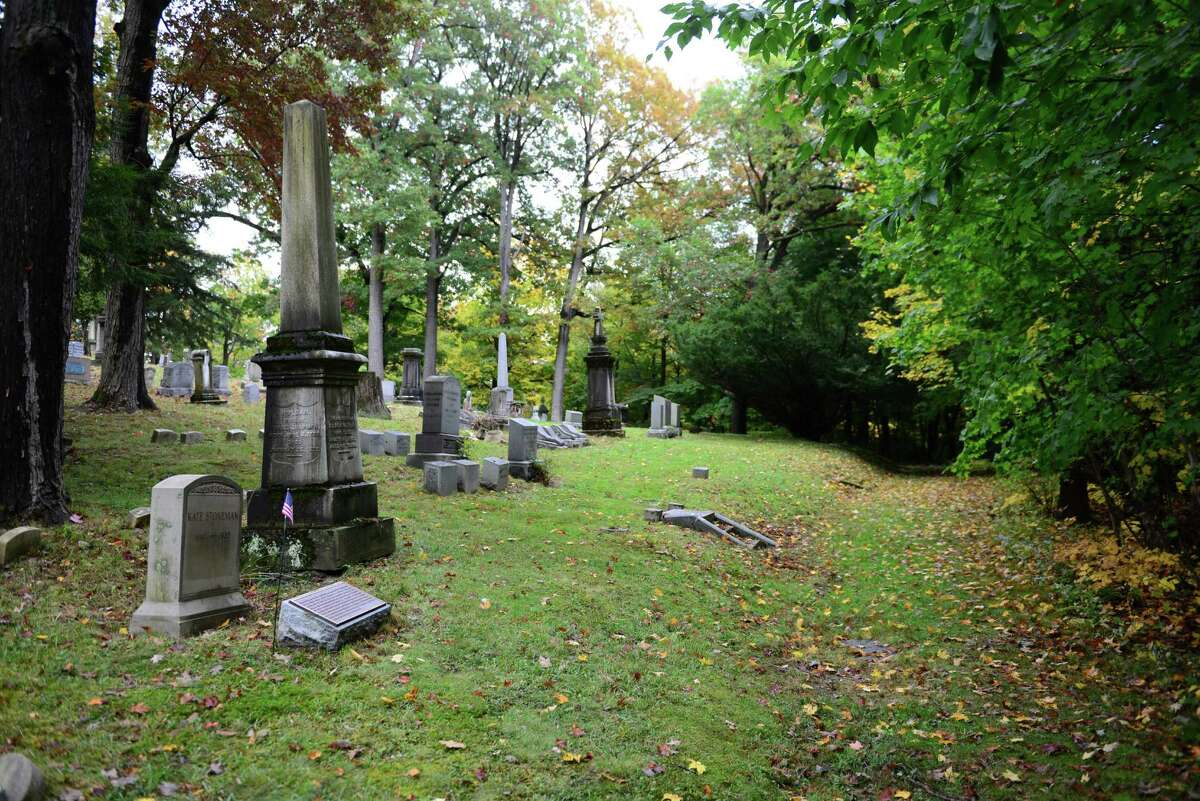 The area around the grave site of Kate Stoneman on the south side of section 56. Stoneman was the first female Albany Law School graduate and the first woman admitted to the NYS Bar. (Will Waldron/Times Union)