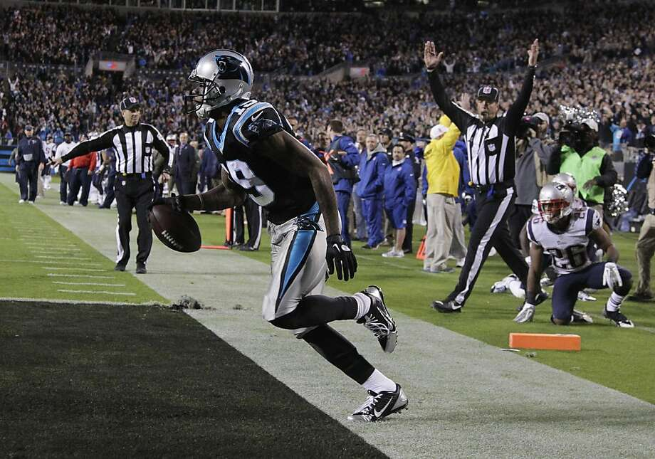 Carolina Panthers wide receiver Ted Ginn (19) moves after scoring a touchdown against the New England Patriots during the second half of an NFL football game in Charlotte, N.C., Monday, Nov. 18, 2013. The Carolina Panthers won 24-20. Photo: Bob Leverone, Associated Press