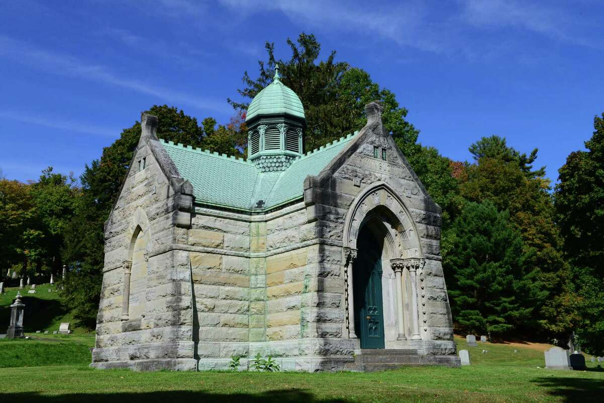 The Winslow Mortuary Chapel is the largest burial structure in the cemetery. (Will Waldron/Times Union)