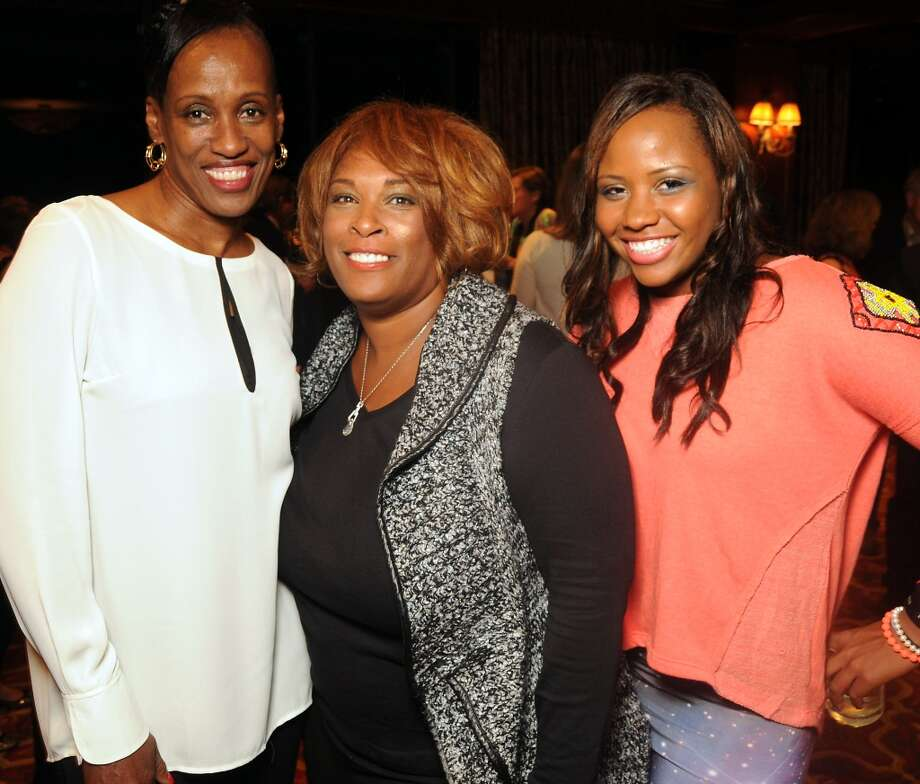 "From left: Jackie Joyner-Kersee, Zina Garrison and Taylor Townsend at the ""Story of Love"" gala benefitting the Zina Garrison Tennis Academy at the Houstonian Hotel Saturday Nov.16. Photo: Dave Rossman, For The Houston Chronicle"