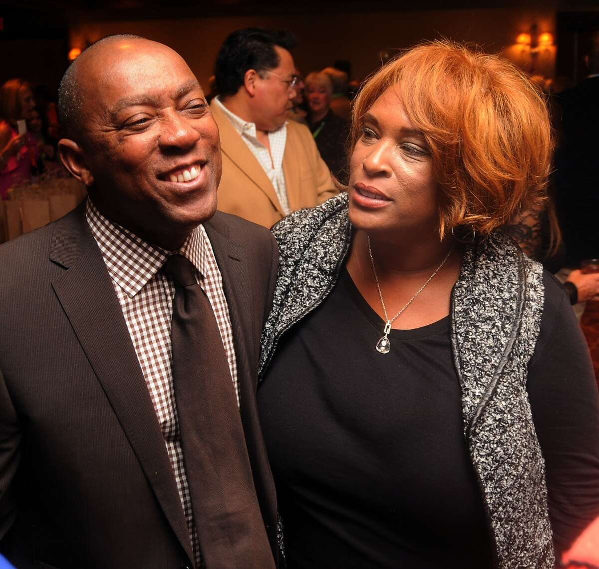 """State Rep Sylvester Turner and Zina Garrison share stories at the """"Story of Love"""" gala benefitting the Zina Garrison Tennis Academy at the Houstonian Hotel Saturday Nov.16."""