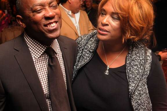 "U.S. Rep Sylvester Turner and Zina Garrison share stories at the ""Story of Love"" gala benefitting the Zina Garrison Tennis Academy at the Houstonian Hotel Saturday Nov.16."