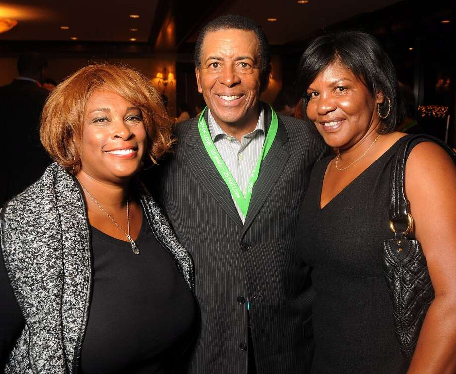 "From left: Zina Garrison, John Wilkerson and Lori McNeil at the ""Story of Love"" gala benefitting the Zina Garrison Tennis Academy at the Houstonian Hotel Saturday Nov.16. Photo: Dave Rossman, For The Houston Chronicle"