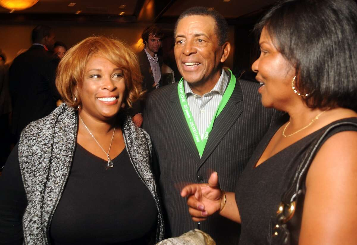 """From left: Zina Garrison, John Wilkerson and Lori McNeil at the """"Story of Love"""" gala benefitting the Zina Garrison Tennis Academy at the Houstonian Hotel Saturday Nov.16."""