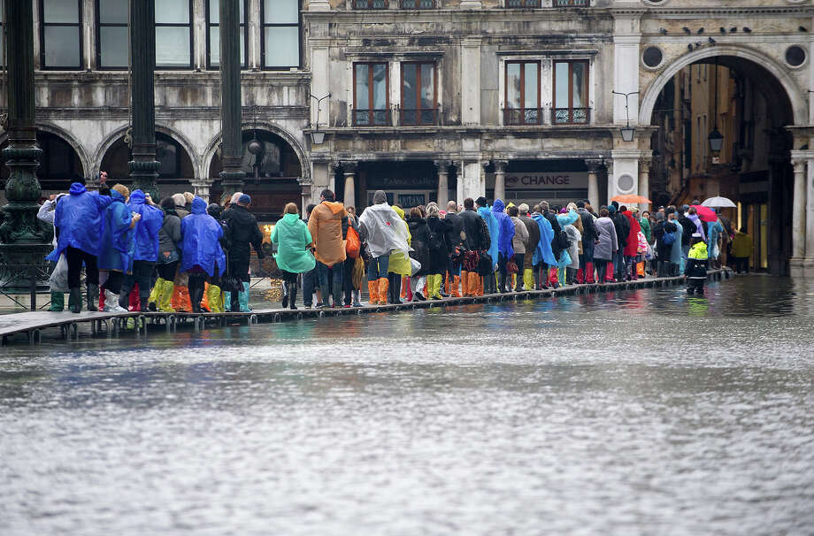 Question 44:Venice, as most of us know, is slowly sinking into the mud. But another,