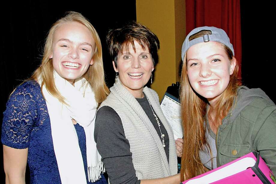 Well-known entertainer Lucie Arnaz recently taught a master class at the Performing Arts Conservatory of New Canaan. With her are students Emily Chalon and Rachel Guth. Photo: Contributed Photo, Contributed / New Canaan News Contributed