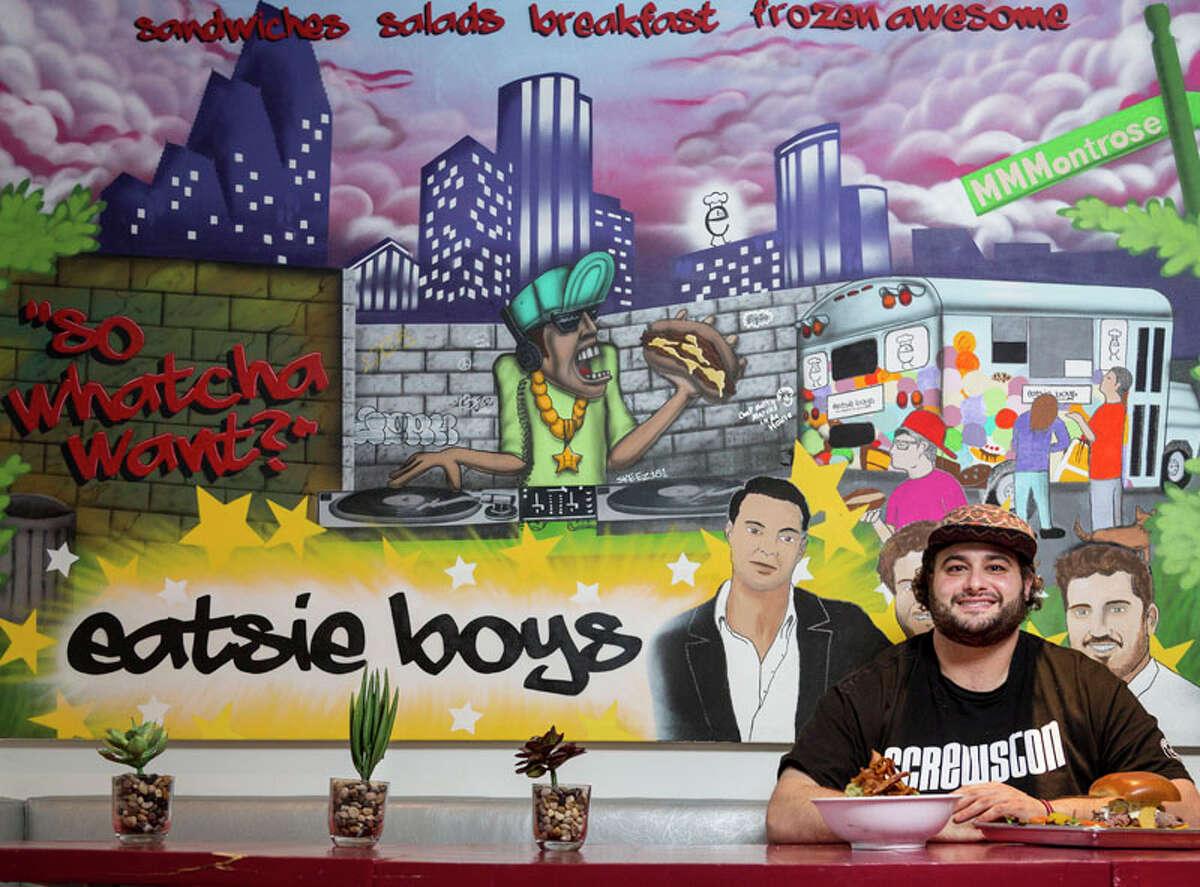 Eatsie Boys chef Matt Marcus poses for a photo inside the Eatsie Boys Cafe, Thursday, Jan. 10, 2013, in Houston. ( Michael Paulsen / Houston Chronicle )