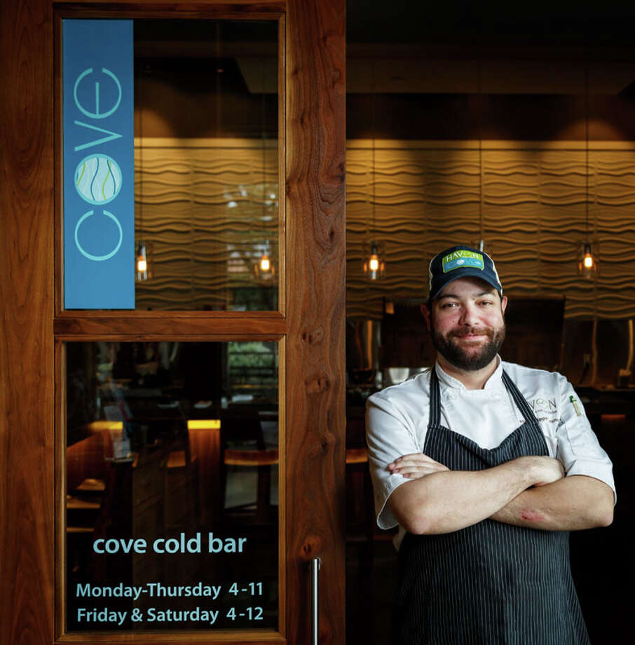 Cove cold bar Chef Jean Philippe Gaston at Cove Cold Bar, located inside Haven Restaurant, Friday, Aug. 30, 2013, in Houston.  Photo: Michael Paulsen, Houston Chronicle / © 2013 Houston Chronicle
