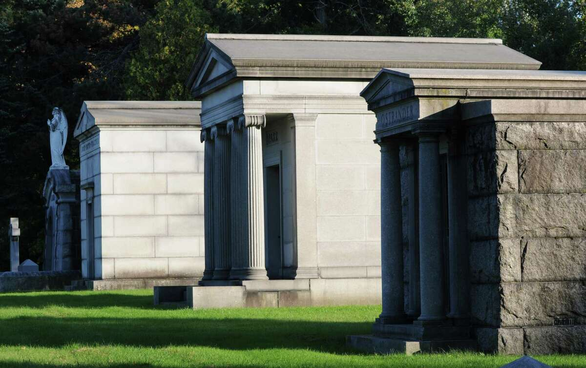The John Boyd Thacher mausoleum sits on Millionare?s Row, a tribute to the rail car manufacturer, Albany mayor and philanthropist. His widow donated the land for John Boyd Thacher State Park. (Will Waldron/Times Union)