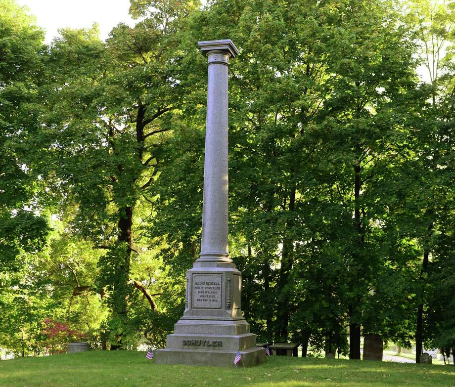 Burial monument of General Philip Schuyler, major general in the Continental Army. (Will Waldron/Times Union) Photo: WW / 00023993A