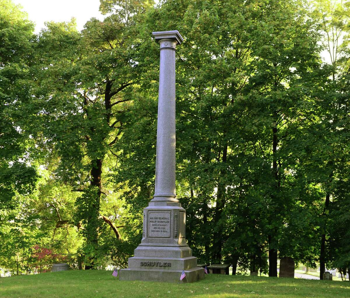 Burial monument of General Philip Schuyler, major general in the Continental Army. (Will Waldron/Times Union)