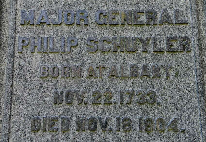 General Philip Schuyler?s burial monuments. (Will Waldron/Times Union)