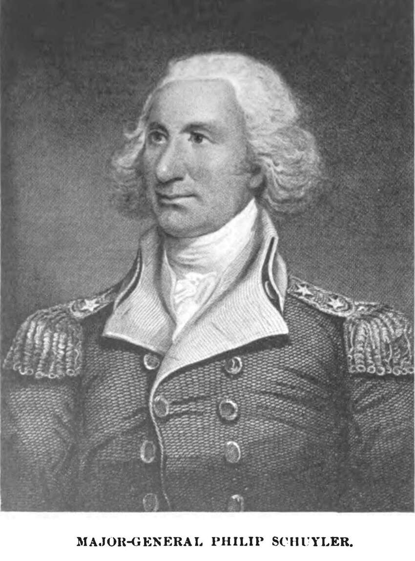 Major General Philip Schuyler was a key general in the American Revolution who served at the pivotal Battle of Saratoga. He grew up at the corner of State and South Pearl streets when Albany was still under British rule. After the war, he was named a representative to the first Continental Congress in Philadelphia and an adviser to Gen. George Washington, who stayed at Schuyler's mansion in Albany. Read more about Philip Schuyler. From Dictionary of American Portraits, New York: Dover, 1967.
