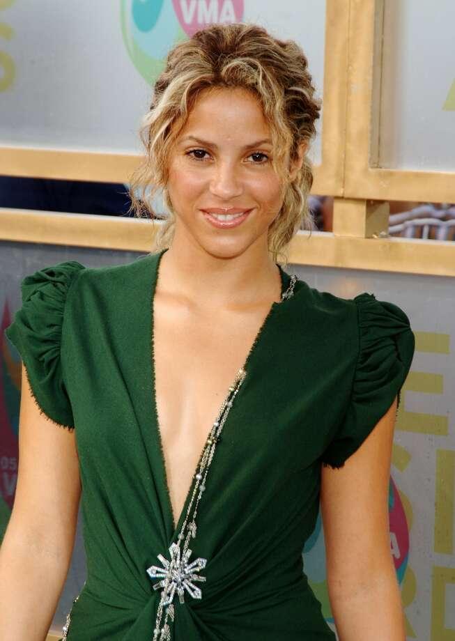 Shakira in 2005. Photo: Dimitrios Kambouris, WireImage